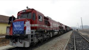 Türkiyeden Çine gidecek ilk blok ihracat treni Erzuruma ulaştı