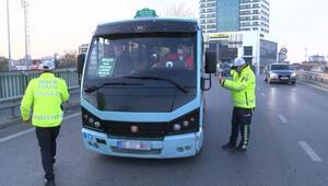 Maltepede toplu taşıma araçlarında koronavirüs denetimi