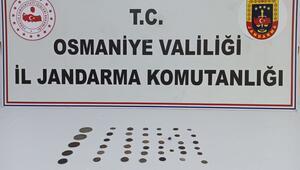 Osmaniye'de 49 adet sikke ele geçirildi