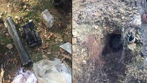 Mağarada PKKnın lav silahı ve el bombaları bulundu