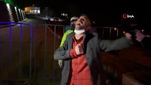 Alkollü sürücü denetlemede ceza yedi, türkü söyledi