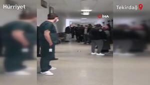 Tekirdağ'da doktora tehdit ve hakaret anları kamerada