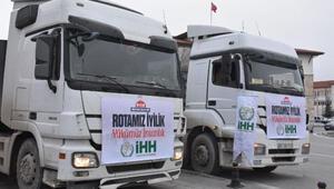 Sivastan Suriyeye 2 TIR yardım malzemesi