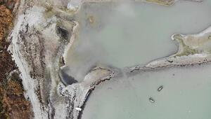 Son dakika haberleri... Büyükçekmece Barajı'nda korkutan görüntü 10 yıldır böylesi görülmedi