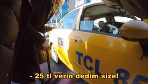 Son dakika haberleri... Turist kılığına girip denetledi Taksicilere ceza yağdı
