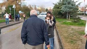Yolun karşısına geçmek isteyen yaşlı adama otomobil çarptı
