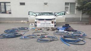 Kayseride 26 hırsızlık olayına karışan 2 şüpheli tutuklandı