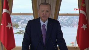 Son dakika... Türkmenistanın Daimi Tarafsızlığı... Cumhurbaşkanı Erdoğan video mesaj gönderdi