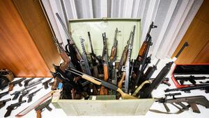 70'in üzerinde silah, 100 bin mermi.. Örgüt kuracaklarmış...
