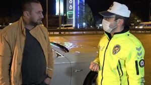 Alkollü sürücü ve polis arasında ilginç diyalog: Bana takıntısı var