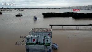 Antalyada sağanak yağış etkili oldu