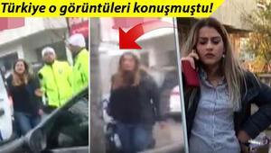 Son dakika haberleri... Polisi tehdit eden o kadınla ilgili yeni görüntüler ortaya çıktı