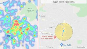 Vanın risk haritasında sevindiren görüntü
