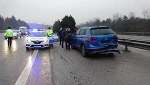 Mazot dökülen yolda zincirleme kaza