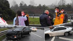 Son dakika haberler: Mazot dökülen TEMde zincirleme kaza