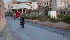 Türkiyeyi tanıtmak için Almanyadan bisikletle yola çıkan gurbetçi Mardinde