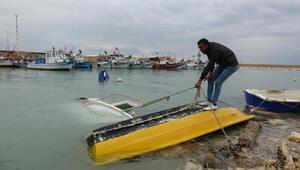 Erdemlide 10 balıkçı kayığı fırtınadan battı