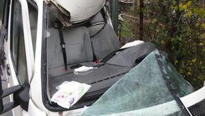 Şilede kamyonetle minibüs kafa kafaya çarpıştı