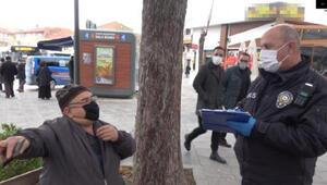 Denetimde polise maskesiz yakalandı, Kurban olayım, ceza yazmayın dedi