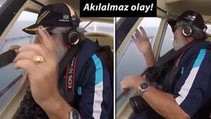 Brezilyalı belgeselci, çekim yaparken telefonunu uçaktan düşürdü