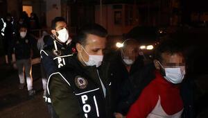 Uyuşturucu parti düzenlenen eve polis baskını