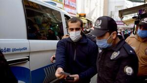 Maskesiz yakalanınca yok demişti Polis merkezine giderken kimliğini gösterdi