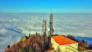 Bursanın üzerini kaplayan bulutlar, görsel şölen oluşturdu...