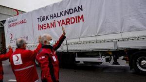Kızılay'dan Azerbaycan ve Bosna Hersek'e 9 TIR insani yardım