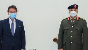 İtalya Başbakanı Conte Libyada Halife Hafter ile görüştü