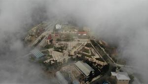 Harputta sis bulutlarının görsel şöleni
