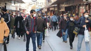 Gaziantepte kısıtlama öncesi çarşılarda yoğunluk