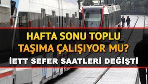 Yarın otobüsler çalışıyor mu Hafta sonu metro, metrobüs, otobüs var mı 19-20 Aralık sokağa çıkma yasağı İETT sefer saatleri