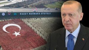 Son dakika haberleri... Kuzey Marmarada son etap açıldı Cumhurbaşkanı Erdoğandan önemli açıklamalar
