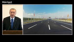 Cumhurbaşkanı Erdoğan, Kuzey Marmara Otoyolu 6. Kesim Açılış Töreni'nde konuştu
