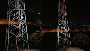 Trafik cezası yiyince yarı çıplak elektrik direğine tırmandı