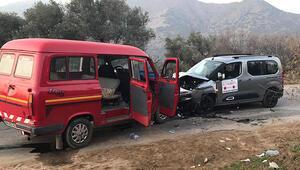 Aydında filyasyon ekibini taşıyan araç kaza yaptı 5 yaralı