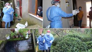 Rizede filyasyon ekipleri, iz sürüyor; virüs, ev ziyaretleriyle yayılıyor