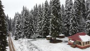 Bartının yaylalarında kar güzelliği