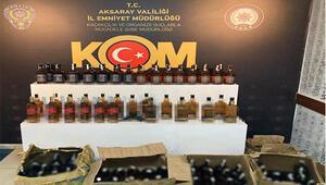 Aksaray'da sahte içki operasyonu: 5 gözaltı