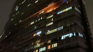 Esenyurt'ta lüks rezidansta korkutan yangın