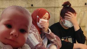 Acılı annenin 8 aylık bebeği için gözyaşları...