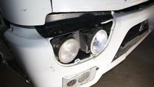 Ankarada yayaya çarpıp kaçan kamyonetin sürücü, far paneli parçalarından bulundu