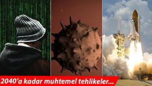 Son dakika...2040a kadar en büyük risk biyolojik tehlike siber tehditler ve uzay çatışması olarak görülüyor