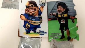 Son dakika haberler: İstanbul Havalimanında ele geçirildi Maradona tablolarının arkasında... Değeri 2 milyon TL