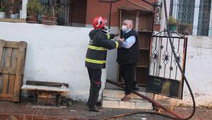 Evi yanarken içeri girmeye çalıştı