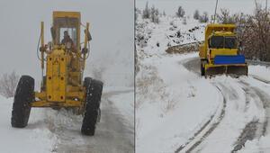 Elazığda, kardan kapanan 90 köy yolundan 77si açıldı