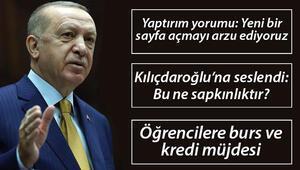 Son dakika haberi: Cumhurbaşkanı Erdoğandan önemli açıklamalar Öğrencilere burs müjdesi, AİHMnin Demirtaş kararı ve diğer detaylar