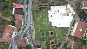 Sancaktepedeki 14 yüzyıllık Damatrys Sarayında restorasyon çalışmaları devam ediyor