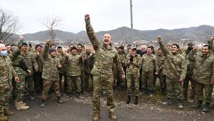 Aliyev Ermenistan işgalden kurtarılan Gubadlıyı ziyaret etti