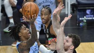 NBAde Gecenin Sonuçları | Morantin 44 sayısı Grizzliese yetmedi Furkan ve Cediden 11er sayı...